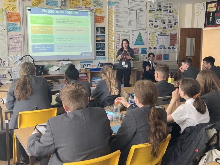 Almost 3500 young people educated on the dangers of knife crime.