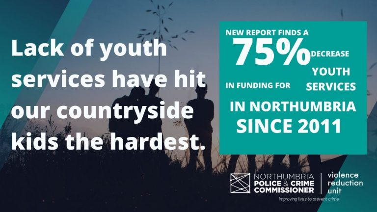"""""""75% decrease in funding for youth services in Northumbria since 2011 is impacting kids in the countryside"""" says Kim McGuinness"""